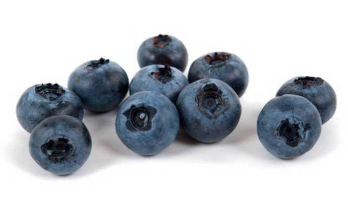 Ti blåbær.