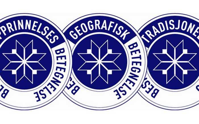 De tre logoene til beskyttede betegnelser.