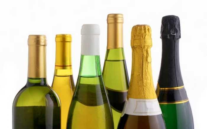 Vin og champagne.