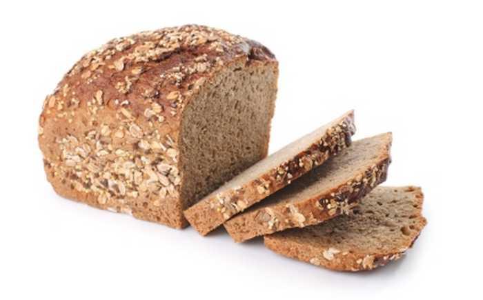 Brød skåret i skiver.