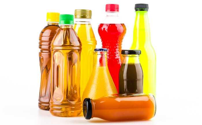 Ulike typer saftflasker