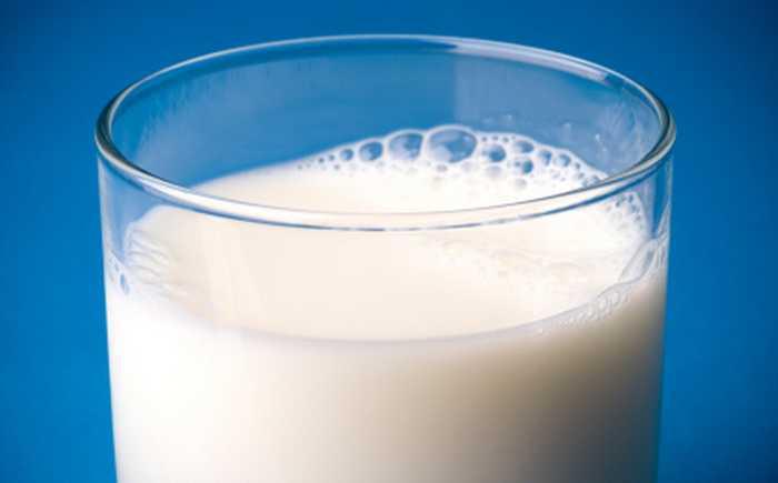 Glass med melk
