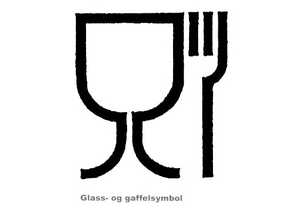 Glass- og gaffelsymbol