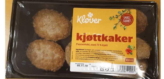 «Pannestekte kjøttkaker» fra Kløverkjøtt AS trekkes tilbake fra markedet.