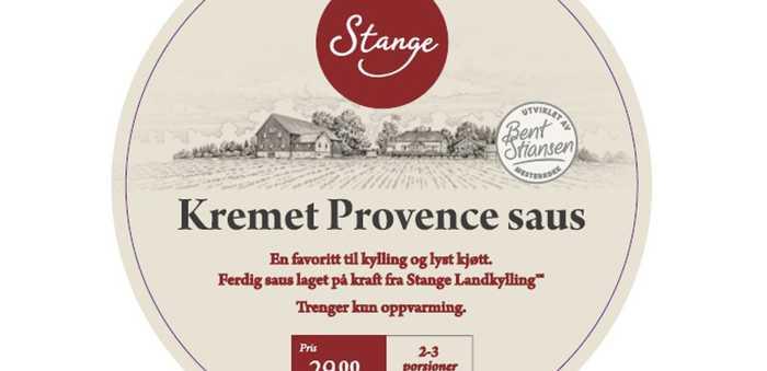 «Kremet Provence saus» fra Stange gårdsprodukt AS, trekkes fra markedet.