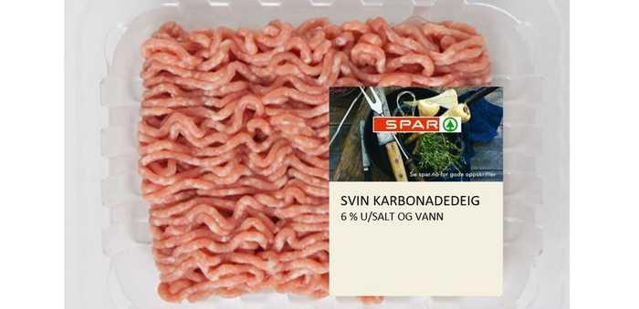 Spar Svin karbonadedeig