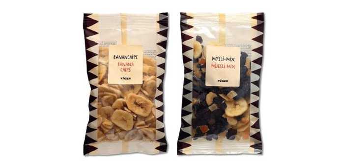 banan chips og musli mix
