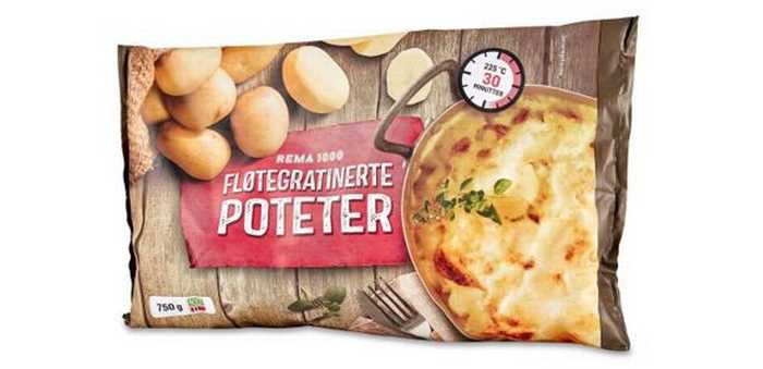 REMA 1000 fløtegratinerte poteter 750g